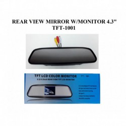 "Rear View Mirror with 4.3"" Monitor (TFT-1001)"