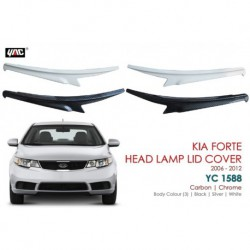 "KIA Forte Head Lamp Lid Cover Eye Lid (06-12"") With PAINTED YC 1588"