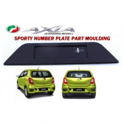 Perodua Axia Rear Number Plate Part Moulding (Black)