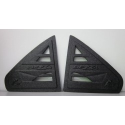 Perodua Bezza 3D Triangle Mirror Pough Rear Side Window Cover