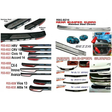 Toyota Avanza NEW Chrome ABS Rear Bumper Guards Protector