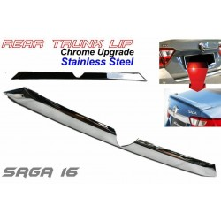 Proton Saga 2016 Stainless Steel Chrome Upgrade Rear Trunk Lip Lid