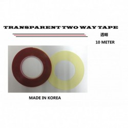 Transparent Two Way Tape (10mm X 10yds)