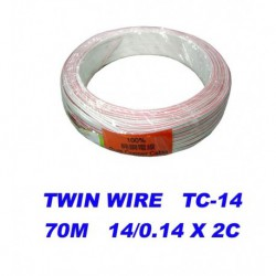 PVC Twin Flat Speaker Cable (Pure Copper Cable)