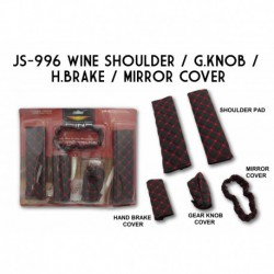 Wine 4 in 1 (Shoulder, Gear Knob, Hand Brake, Mirror Cover) JS-996